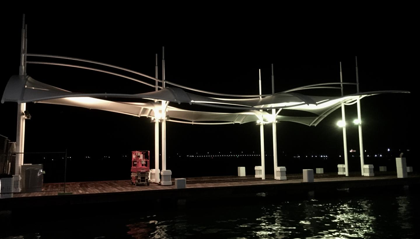 New Mandurah Bridge Sail Shade